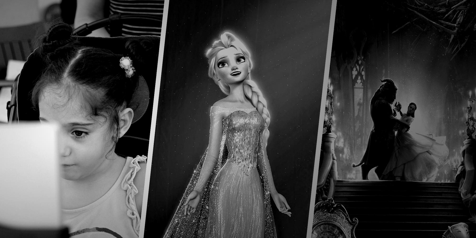 Dulce, y sus personajes favoritos: Frozen y Bella y Bestia